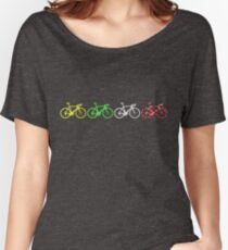 Bike Stripes Tour de France Jerseys v2 Women's Relaxed Fit T-Shirt