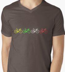 Bike Stripes Tour de France Jerseys v2 Men's V-Neck T-Shirt