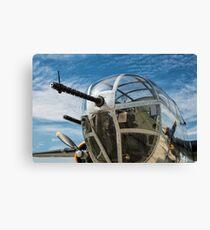 B-25 Mitchell Bomber (WWII) Yankee Warrior (Nose gun) Canvas Print