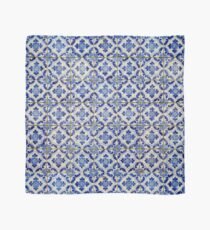 Portuguese tiles. Blue flowers and leaves Scarf