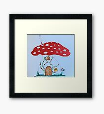 Toadstool House Framed Print