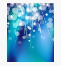 Shiny glowing turquoise background Photographic Print