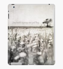 from humble beginnings come great things iPad Case/Skin