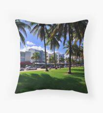 Miami Beach Ocean Drive Throw Pillow