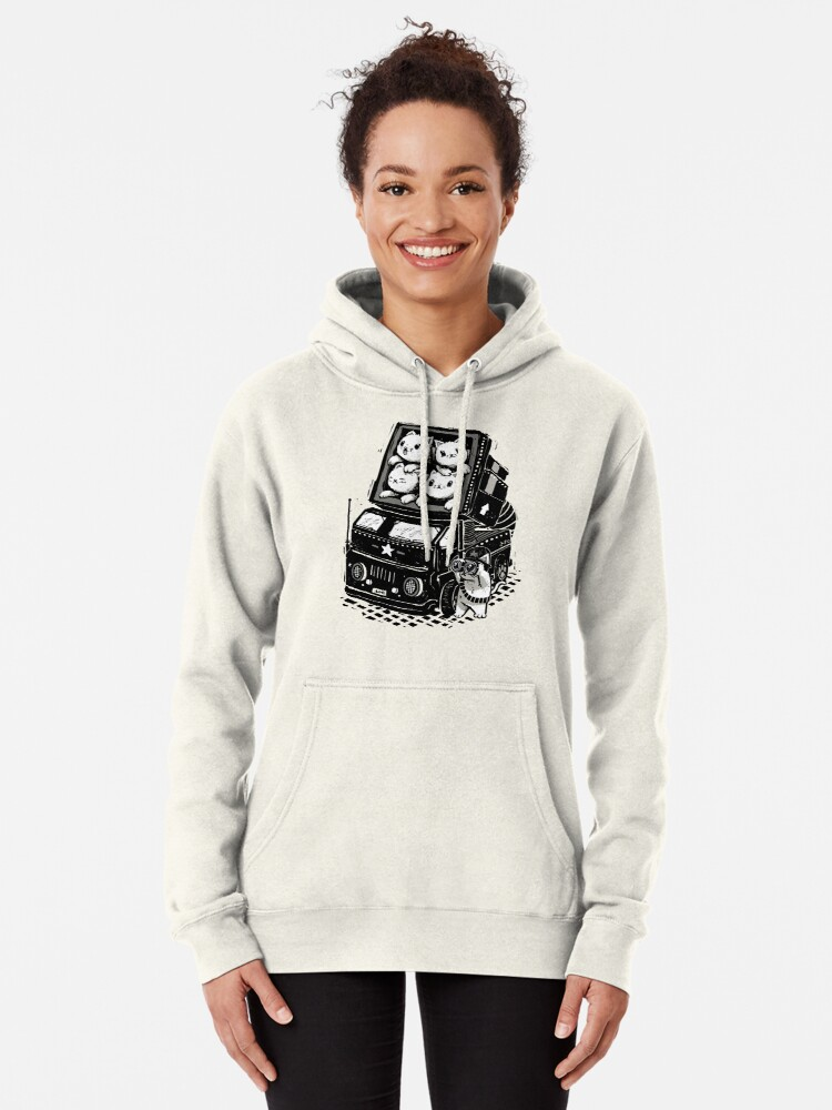 Alternate view of Cat Cats Pullover Hoodie