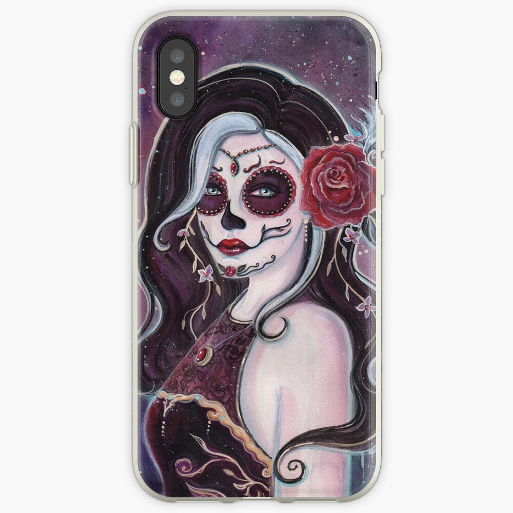 Alegria day of the dead art by Renee Lavoie iPhone Case & Cover