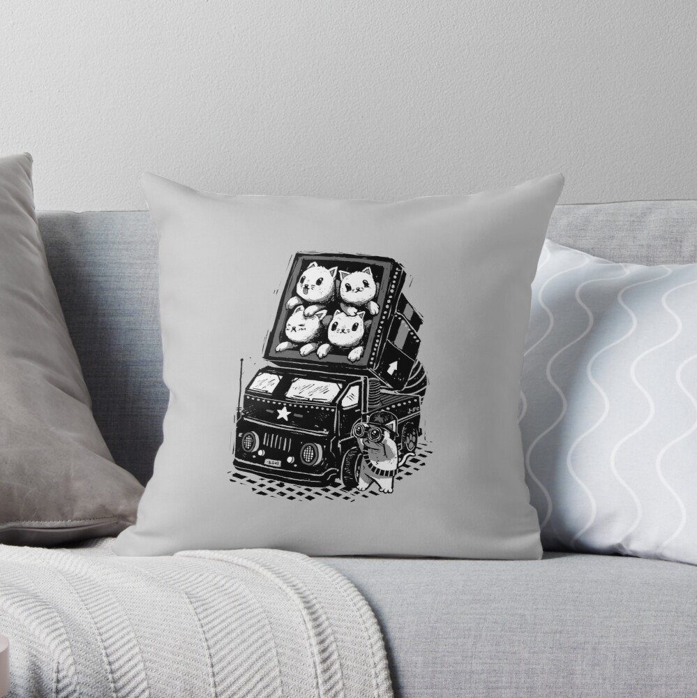 Cat Cats Throw Pillow