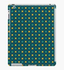 Seamless green pattern with squares and flowers iPad Case/Skin