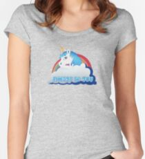 Central Intelligence - Unicorn (Not Faded) Women's Fitted Scoop T-Shirt