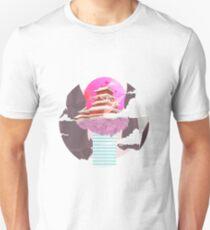Japanese Vaporwave Temple Unisex T-Shirt