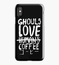 Ghouls love coffee iPhone Case/Skin
