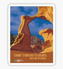 Vintage poster - Grand Staircase-Escalante Sticker