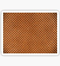 Vintage Natural Brown Leather Texture Background Sticker
