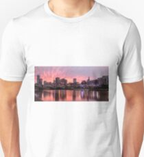Princes Bridge Sunset, Melbourne Unisex T-Shirt