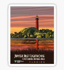 Vintage poster - Jupiter Inlet Lighthouse Sticker