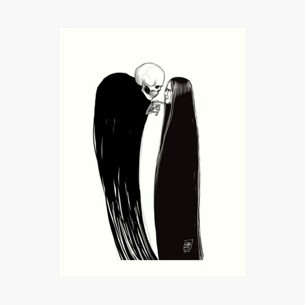 Faced with Death Art Print