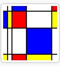 Piet Mondrian-Inspired 1 Sticker