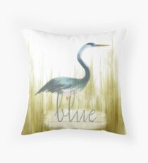 Blue Heron 2 Throw Pillow