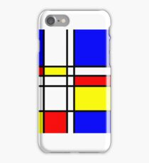 Piet Mondrian-Inspired 2 iPhone Case/Skin