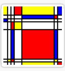 Piet Mondrian-Inspired 3 Sticker