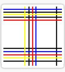 Piet Mondrian-Inspired 4 Sticker