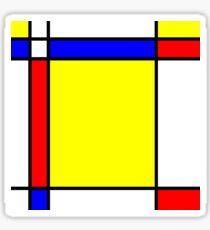 Piet Mondrian-Inspired 5 Sticker