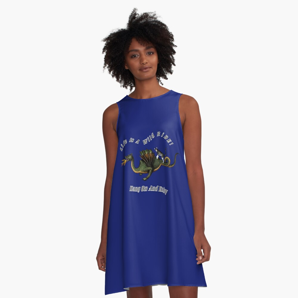 Cat On A Wild Ride A-Line Dress Front