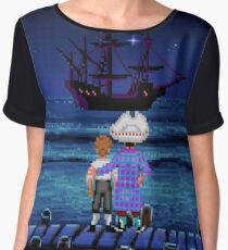 Guybrush & Stan (Monkey Island) Women's Chiffon Top