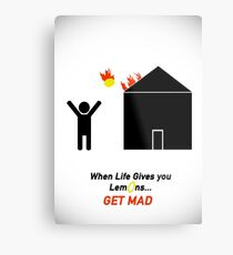 When Life Gives You Lemons, Get Mad - Portal 2 Metal Print