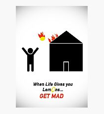 When Life Gives You Lemons, Get Mad - Portal 2 Photographic Print
