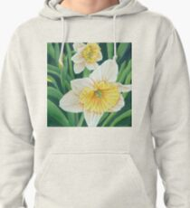 Spring Daffodils Painting Pullover Hoodie