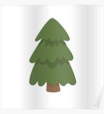 Cartoon Evergreen Tree Poster