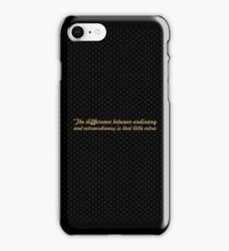 """The difference... """"Jimmy Johnson"""" Inspirational Quote iPhone Case/Skin"""