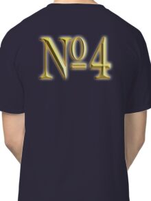 4, NUMBER 4, GOLDEN 4, NUMBER FOUR, FOUR, 4, FOURTH, Competition, TEAM SPORTS,  Classic T-Shirt