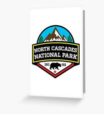 NORTH CASCADES NATIONAL PARK WASHINGTON BEAR 1968 HIKING CAMPING CLIMBING Greeting Card