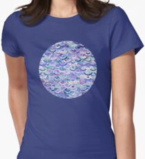 Marble Mosaic in Amethyst and Lapis Lazuli Womens Fitted T-Shirt