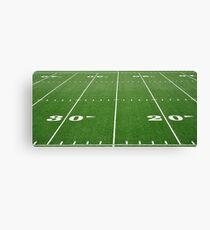 Football Field Hash Marks Canvas Print