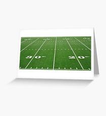 Football Field Hash Marks Greeting Card