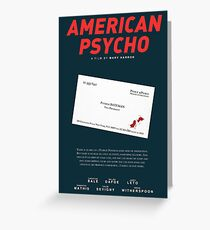 American psycho business quote greeting cards redbubble american psycho batemans blood smeared business card greeting card reheart Images