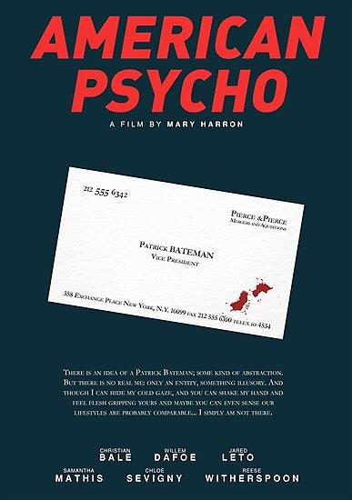 American Psycho - Bateman's blood-smeared business card by PFordy4D