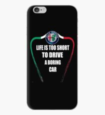 Life is too short to drive a boring car - Alfa TriColore iPhone Case