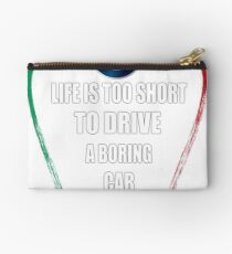 Life is too short to drive a boring car - Alfa TriColore Studio Pouch