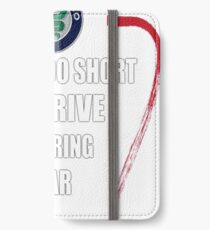 Life is too short to drive a boring car - Alfa TriColore iPhone Wallet/Case/Skin