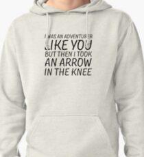Elder Scrolls Skyrim Funny Quote Arrow To The Knee Pullover Hoodie
