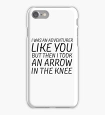 Elder Scrolls Skyrim Funny Quote Arrow To The Knee iPhone Case/Skin