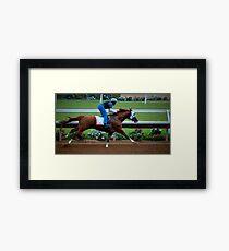 Kentucky Derby Winner California Chrome Framed Print