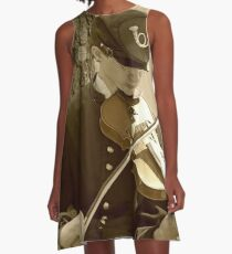 Civil War Fiddle Player A-Line Dress