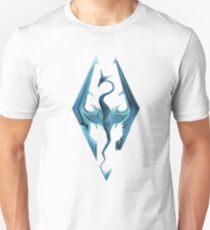 Skyrim blue logo Unisex T-Shirt