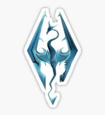 Skyrim blue logo Sticker