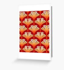 Art Deco Lily, Orange and Gold Greeting Card